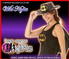 FANCY DRESS ~ BATGIRL TOP WITH CAPE MED 12-14